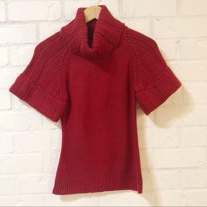 Express Short Sleeve Turtleneck Sweater